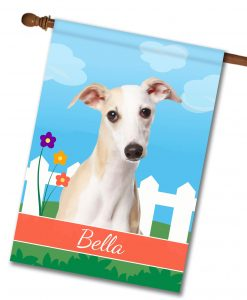 Personalized Spring Whippet II - House Flag - 28'' x 40''