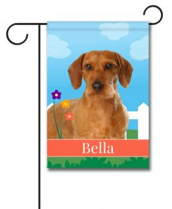 Personalized Spring Wirehaired Dachshund - Garden Flag - 12.5'' x 18''