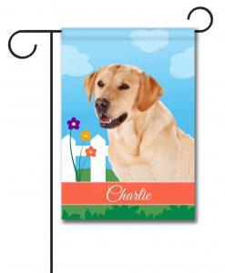 Personalized Spring Yellow Labrador Retriever - Garden Flag - 12.5'' x 18''