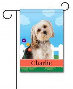 Personalized Spring Yorkie Bichon - Garden Flag - 12.5'' x 18''