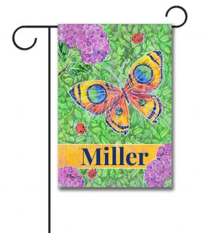 Personalized Stained Glass Garden  - Garden Flag - 12.5'' x 18''