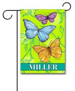 Personalized Butterflies  - Garden Flag - 12.5'' x 18''