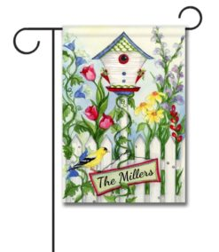 Personalized Birdies Welcome  - Garden Flag - 12.5'' x 18''