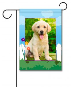 Spring Fence Photo Flag - Garden Flag - 12.5'' x 18''