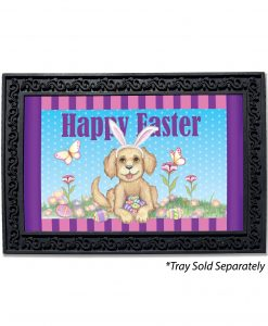 Happy Easter Bunny Ears Dog Doormat