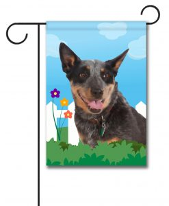 Spring Australian Cattle Dog - Garden Flag - 12.5'' x 18''