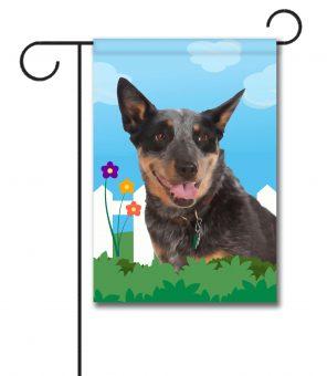 Spring Australian Cattle Dog - Garden Flag - 12.5'' x 18''