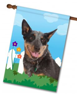 Spring Australian Cattle Dog - House Flag - 28'' x 40''