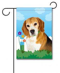 Spring Beagle - Garden Flag - 12.5'' x 18''
