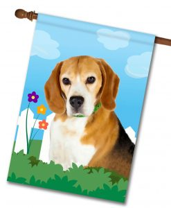 Spring Beagle - House Flag - 28'' x 40''