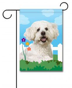 Spring Bichon Frise - Garden Flag - 12.5'' x 18''