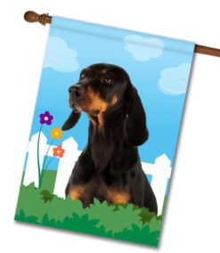 Spring Black and Tan Coonhound - House Flag - 28'' x 40''