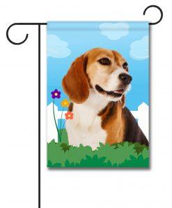 Spring Beagle II - Garden Flag - 12.5'' x 18''