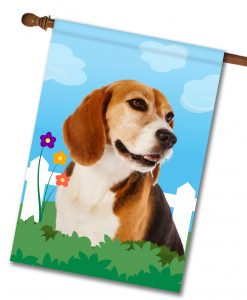 Spring Beagle II - House Flag - 28'' x 40''