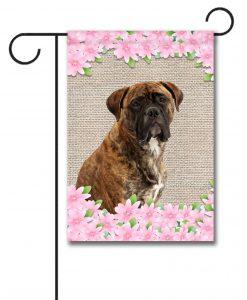 Spring Flowers Mastiff - Garden Flag - 12.5'' x 18''