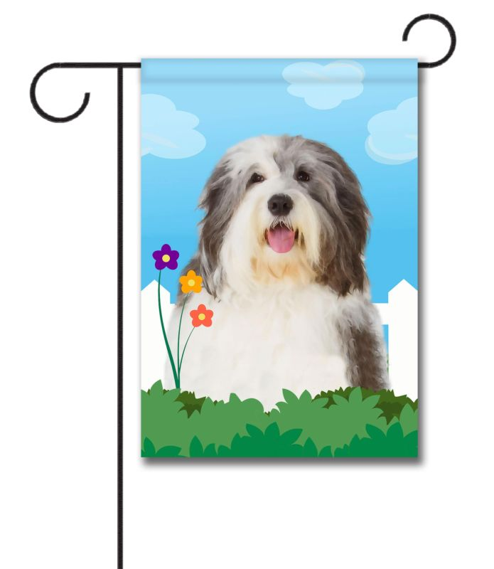 Spring Old English Sheepdog - Garden Flag - 12.5'' x 18''