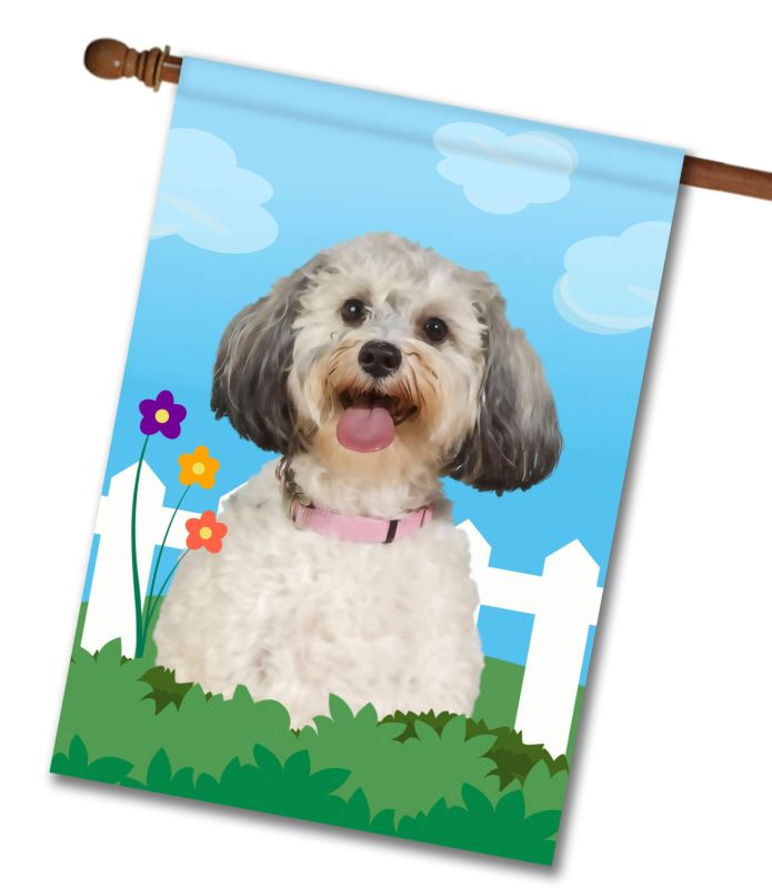 Spring Schnoodle - House Flag - 28'' x 40''