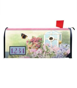 Summer Residence Butterfly Garden Personalized Photo Magnetic Mailbox Cover