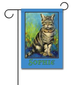 Personalized Welcome Cat  - Garden Flag - 12.5'' x 18''