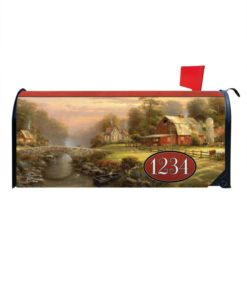 Sunset at Riverbend Farm Magnetic Mailbox Cover