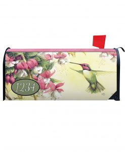 Whispers of a Hummingbird Personalized Photo Magnetic Mailbox Cover