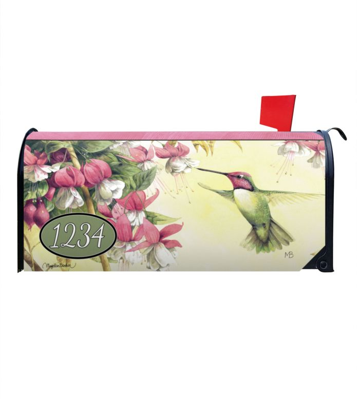 Whispers Of A Hummingbird Personalized Magnetic Mailbox