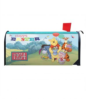 Winnie the Pooh Happy Easter Magnetic Mailbox Cover