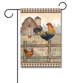 Country Farm Chickens - Garden Flag - 12.5'' x 18''