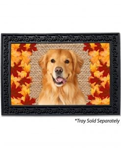 Fall Leaves Golden Retriever Doormat