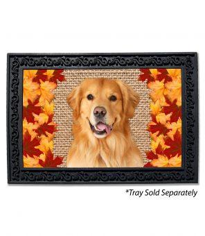 Fall Leaves Golden Retriever Doormat
