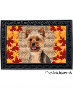 Fall Leaves Yorkie Doormat