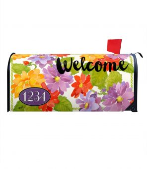 Floral Spring Welcome Mailbox Cover