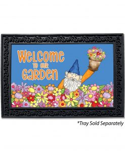 Welcome to Our Garden Gnome Doormat