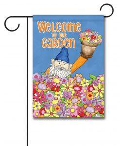Welcome to Our Garden Gnome - Garden Flag - 12.5'' x 18''