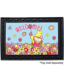 Welcome Gnome Girl Doormat