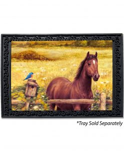 Horse in Meadow Doormat