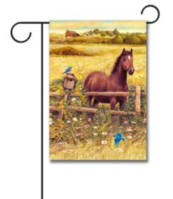Horse in Meadow - Garden Flag - 12.5'' x 18''