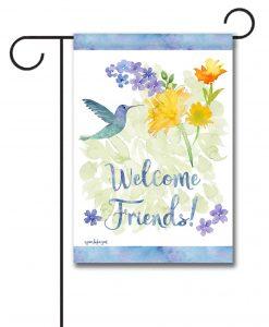 Welcome Friends Hummingbird - Garden Flag - 12.5'' x 18''