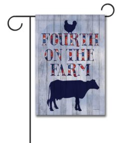 Fourth on the Farm - Garden Flag - 12.5'' x 18''