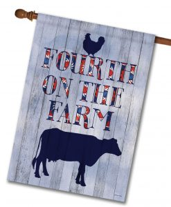 Fourth on the Farm - House Flag - 28'' x 40''