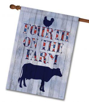 Fourth on the Farm - House Flag - 28'' x 40''