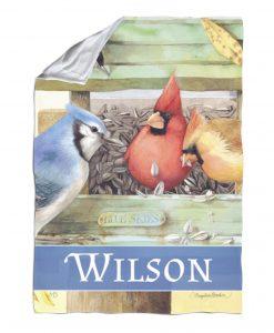 Personalized Backyard Songbirds - Blanket - 40'' x 57''