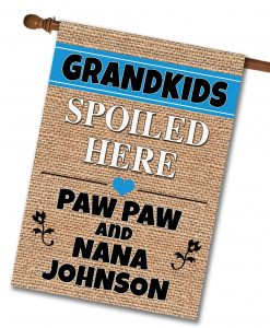 Personalized Grandkids Spoiled Here - House Flag - 28'' x 40''