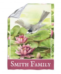 Personalized Water Lily - Blanket - 40'' x 57''