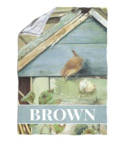Personalized Barn Birdsong - Blanket - 40'' x 57''