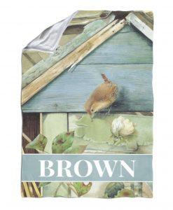 Personalized Barn Birdsong - Blanket - 40'' x 57''
