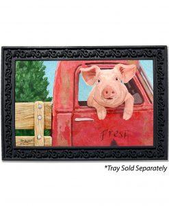 Pig in a Truck Doormat