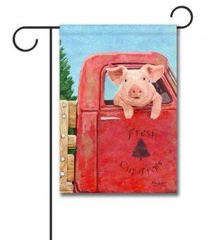 Pig in a Truck - Garden Flag - 12.5'' x 18''