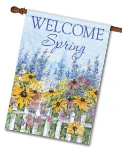 Welcome Spring Flowers - House Flag - 28'' x 40''