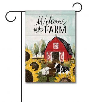 Welcome to the Farm - Garden Flag - 12.5'' x 18''